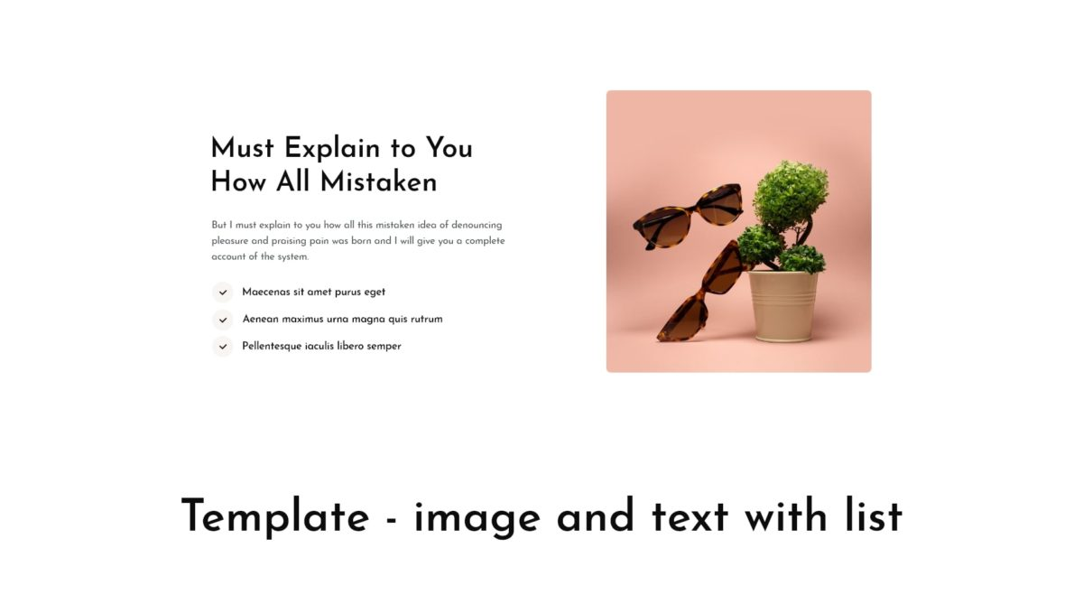 Block - image and text with list