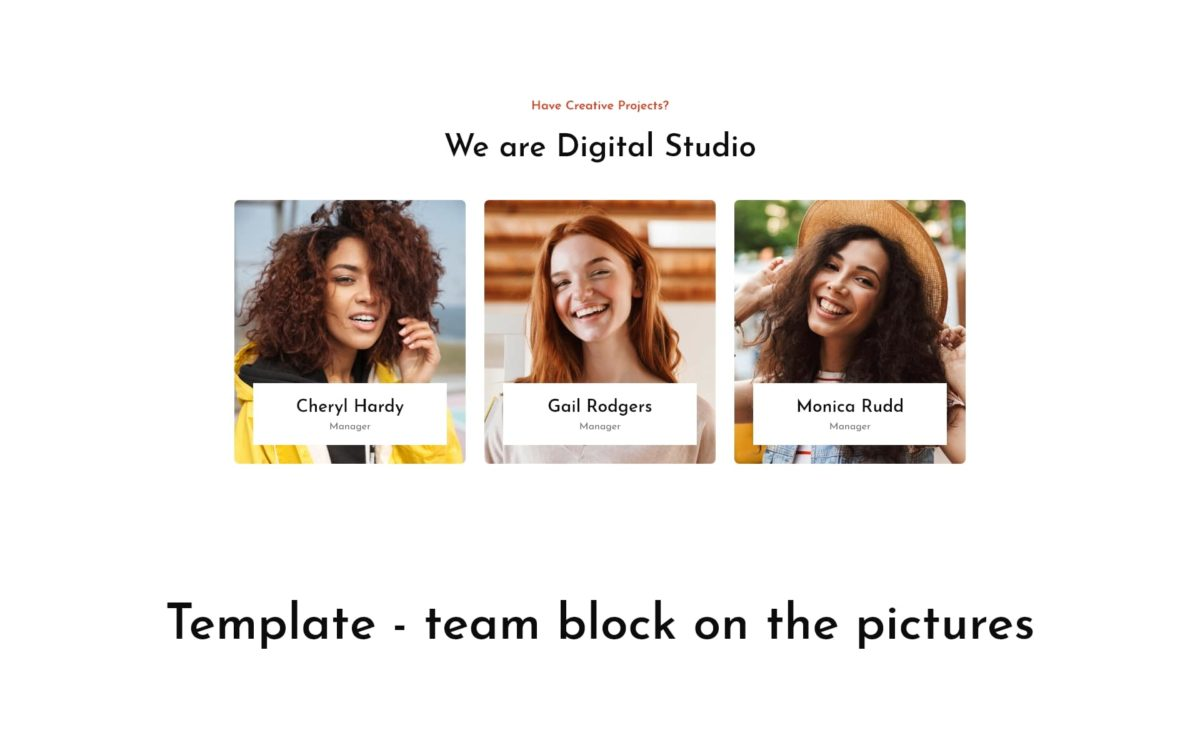 Block - team block on the pictures