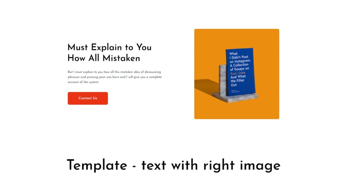 Block - text with right image