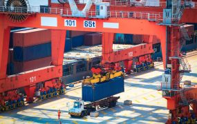 container operation in shanghai sea port